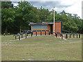 SU9353 : Range control hut,  Ash Ranges by Alan Hunt