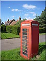 NT5179 : Rural East Lothian : Red Telephone Box In Drem by Richard West