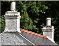J3269 : Cottage chimneys, Belfast by Albert Bridge