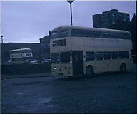 SJ3290 : Buses at Seacombe Ferry Bus Station by David Hillas