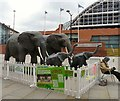 SJ8397 : Elephants at Manchester Central by Gerald England