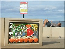 NZ6025 : She sells seashells on Redcar seafront by John M