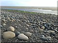 SD1378 : Large stones on beach near Silecroft by Andy Deacon