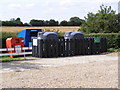 TM1084 : Recycling at Shelfanger Village Hall by Adrian Cable