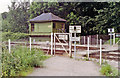 SO8110 : Haresfield: remotely controlled pedestrian crossing at former station by Ben Brooksbank