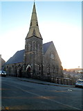 SH4862 : Church spire, Caernarfon by Jaggery