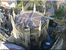 ST5545 : Chapter House Roof, Wells Cathedral by Edwin Graham