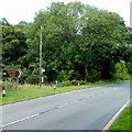 SN9722 : Bus stop near Llwyn-y-celyn tourist hostel by Jaggery