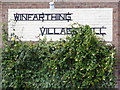 TM1086 : Winfarthing Village Hall sign by Adrian Cable