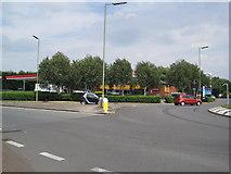 SP4641 : Petrol Station, Grimsbury, banbury by Les Hull