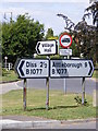 TM1083 : Roadsigns on the B1077 Church Road by Adrian Cable
