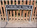 TM1083 : Church Walk sign by Adrian Cable