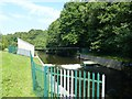 ST1598 : River monitoring station and weir on the Rhymney River by Robin Drayton
