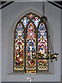 TM1083 : Stained Glass Window of All Saints Church by Adrian Cable