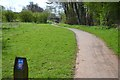SP0665 : Shared path, Arrow Valley Park, Washford, Redditch by Robin Stott