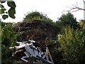 TM1083 : Rubbish Heap in Stable Plantation at Shelfanger Hall by Adrian Cable
