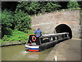 SP7350 : Narrow Boat entering the Blisworth Tunnel by Les Hull