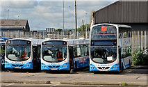 J3373 : Gt Victoria Street bus depot, Belfast (2013-1) by Albert Bridge