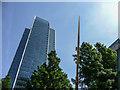 TQ3780 : Javelin Monument, Canary Wharf, London by Christine Matthews