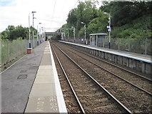 NS3074 : Bogston railway station, Inverclyde by Nigel Thompson