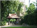 NZ3411 : Lychgate to St John the Baptist Church, Low Dinsdale by Oliver Dixon