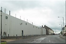 H9115 : The steel-clad walls of Crossmaglen's PSNI barracks by Eric Jones