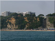 SZ0990 : Bournemouth: East Cliff Lift from the sea by Chris Downer