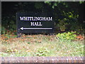 TG2506 : Whitingham Hall sign by Adrian Cable