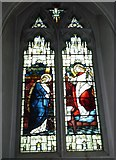 TQ1649 : St Martin, Dorking: stained glass window (D) by Basher Eyre