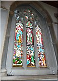 TQ1649 : St Martin, Dorking: stained glass window (J) by Basher Eyre