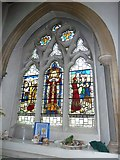 TQ1649 : St Martin, Dorking: stained glass window (O) by Basher Eyre