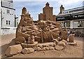 NO6107 : A sand sculpture at Crail by Walter Baxter