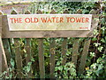 TG2802 : The Old Water Tower sign by Adrian Cable