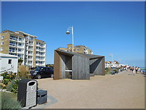 TQ7306 : Shelter on Bexhill Seafront by Paul Gillett