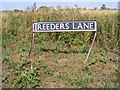 TG2800 : Reeder's Lane sign by Adrian Cable