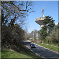 SP0365 : Headless Cross Drive past the water tower, Headless Cross, Redditch by Robin Stott