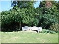 TQ0451 : Benches, Clandon Park by Paul Gillett