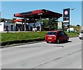 SO1310 : Texaco filling station on the approach to the Nant-y-bwch Roundabout, Tredegar by Jaggery