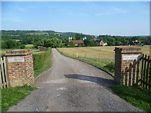 TQ5160 : Entrance to Filston Oast by Marathon