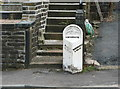 SE0914 : Milestone on the Wakefield and Austerlands Road by Humphrey Bolton