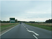 TG0337 : A148 westbound nearing the B1156 junction by Colin Pyle