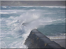 SW3526 : Rough seas at Sennen cove by sue hogben