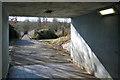 SP0466 : Path to footbridge over Alvechurch Highway, Redditch by Robin Stott