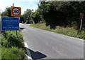 SO0253 : Builth Road boundary sign, Powys by Jaggery