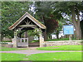 NZ2215 : The Lychgate of St Edwin's Church, High Coniscliffe by Peter Wood