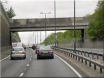 TQ4475 : A2, Footbridge at Eltham by David Dixon
