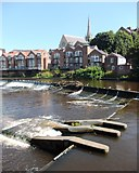 NZ2742 : Weir on the River Wear at Durham by Neil Theasby