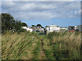 NU2228 : Public footpath, south of Beadnell by Graham Robson