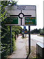 TM3390 : Roadsign on the B1332 Norwich Road by Adrian Cable