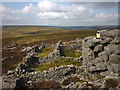 NY9628 : Sheepfold and outcrops on Monk's Moor by Karl and Ali